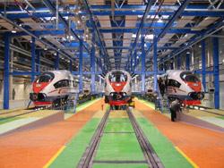 Поезда Сапсан в депо