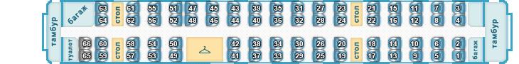 Схема мест вагона 4 скоростного поезда Сапсан